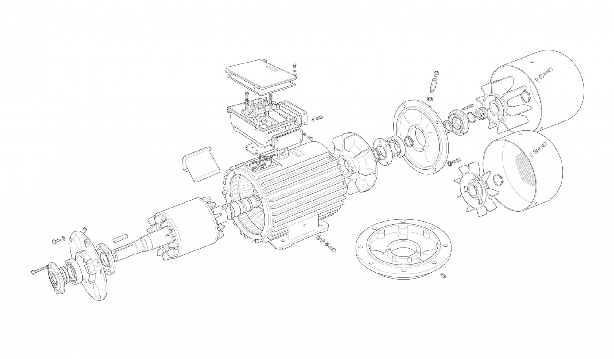 Simulation and construction of an induction machine (generator) for high RPM